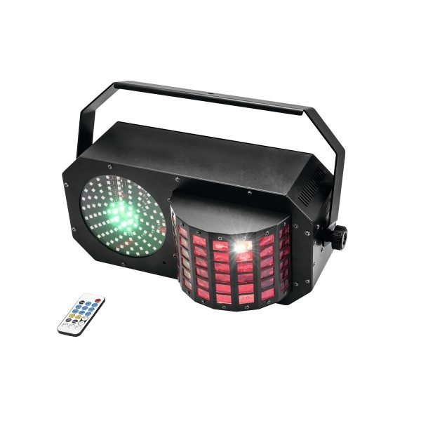 LED Triple FX Laser Box - Komplette Effektbox mit Laser, LED Effekt und Stroboskop