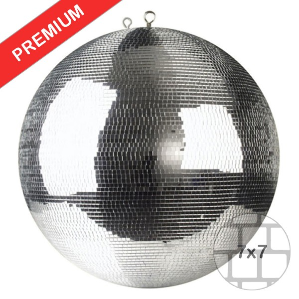 Spiegelkugel 100cm silber chrom- Diskokugel (Discokugel) Party Lichteffekt - Echtglas - mirrorball safety silver chrome color