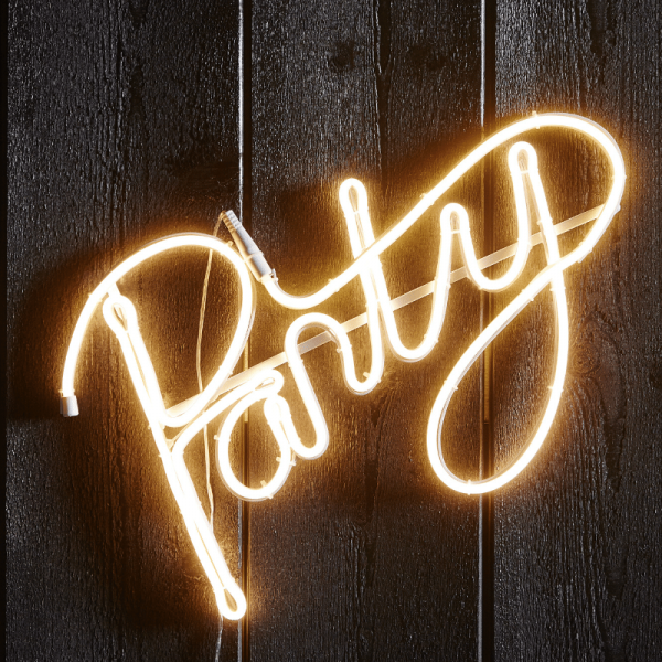 """LED Silhouette """"Party"""" - Flatneon - 305 LED - H: 31cm - outdoor - warmweiß"""