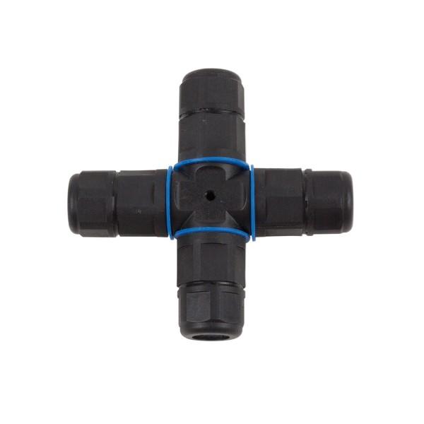Kabelverbinder X-Verbinder - Garten - IP68 - 230V - wasserdicht bis 1m - 3 polig