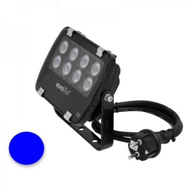 EUROLITE LED IP FL-8 | 30° | 8x1W | IP56 | blau - Fassandenstrahler - Flutlicht - Baumstrahler - Scheinwerfer