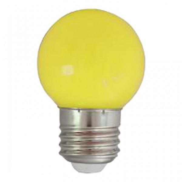 LED-Leuchtmittel | G45 - E27 | 1W | Gelb