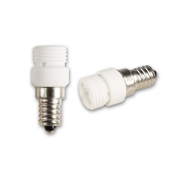 Lampensockel Adapter für Leuchtmittel - Porzellan - max 100W - E14 auf G9