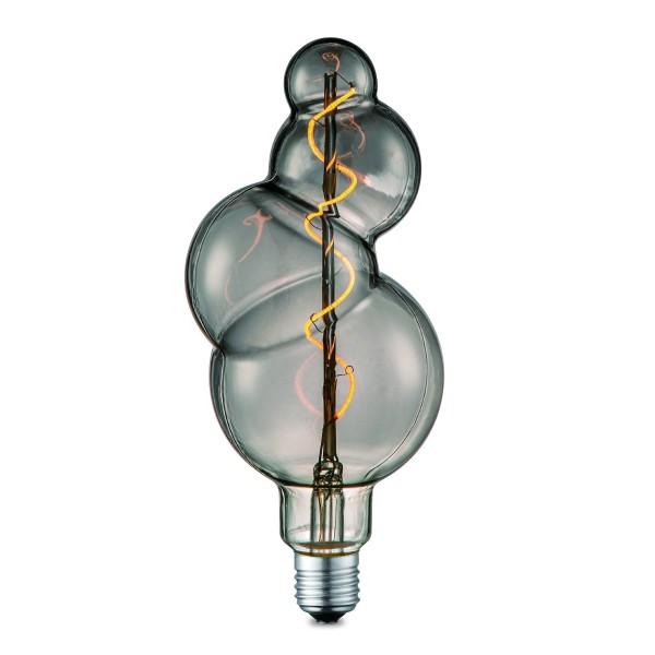 Design LED Leuchtmittel BUBBLE smoke - 2200K - E27 - 90lm - dimmbar