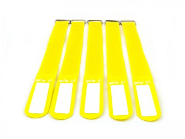 Kabelbinder Klettverschluss 25x550mm 5er Pack gelb