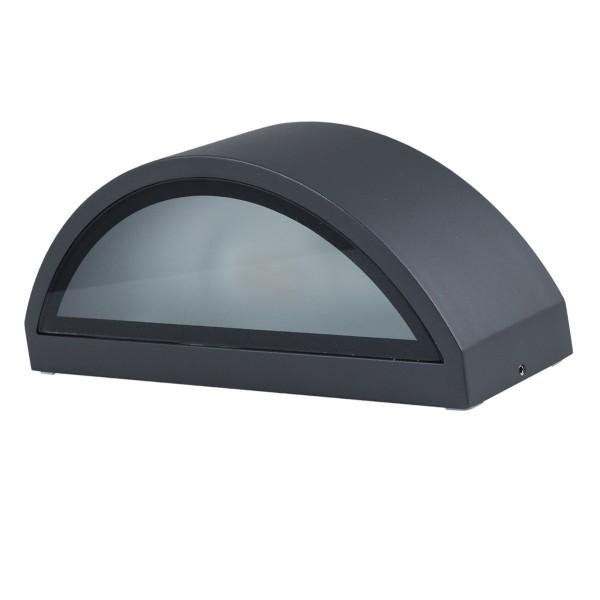 Wandleuchte HOJA - für E27 Leuchtmittel - max 10W LED - anthrazit - IP54 - up & down