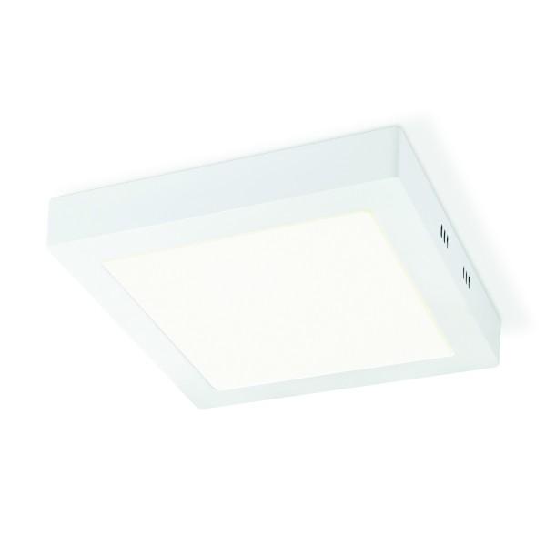Deckenleuchte SKA weiß 22,5x22,5cm - integrierte LED 3000K 1000 Lumen - 15W