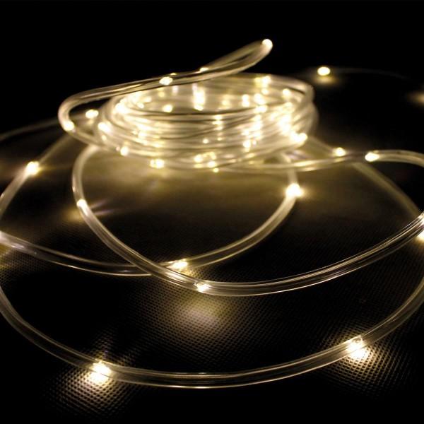 LED Solar Lichtschlauch - 75 warmweiße LED - Dämmerungssensor - L: 7,5m - outdoor
