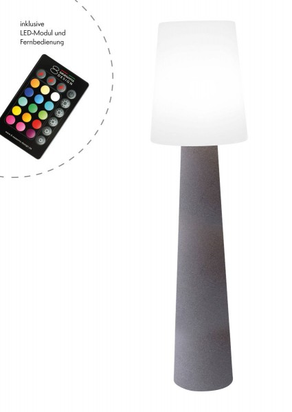 """Outdoor XL Stehlampe No. 1 """"Steinfarben"""" H:160cm - LED Modul - Außenleuchte IP44"""