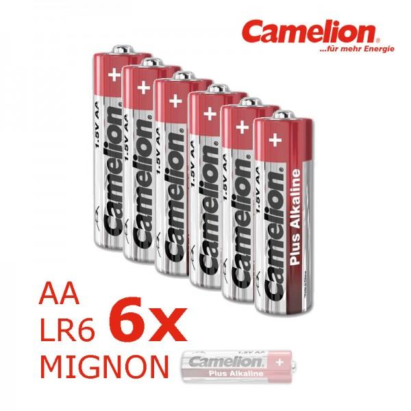 Batterie Mignon AA LR6 1,5V PLUS Alkaline - Leistung auf Dauer - 6 Stück