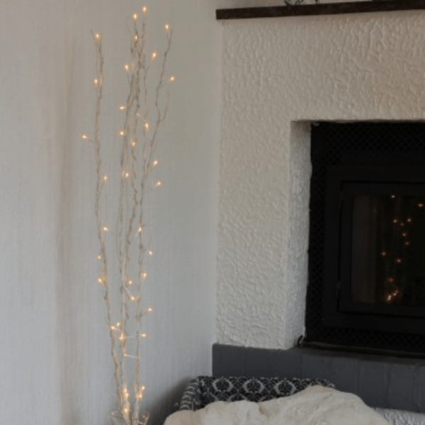 "LED Leuchtzweig ""Willow"" - weiße Weide - 60 warmweiße LED - H: 115cm - inkl. Trafo"