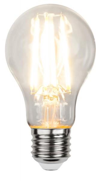 LED Tropfenlampe FILA A60 - E27 - 7,5W - WW 2700K - 1000lm - klar - dimmbar