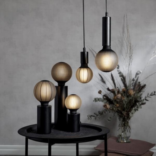 """Lampenfassung """"Tub"""" - E27 Fassung - Schalter - H: 10cm - stehend - schwarz"""
