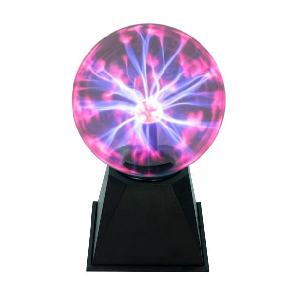 Plasmakugel – zuckend, rote Blitz-Show – Automatikbetrieb oder Musiksteuerung - 15cm Kugel