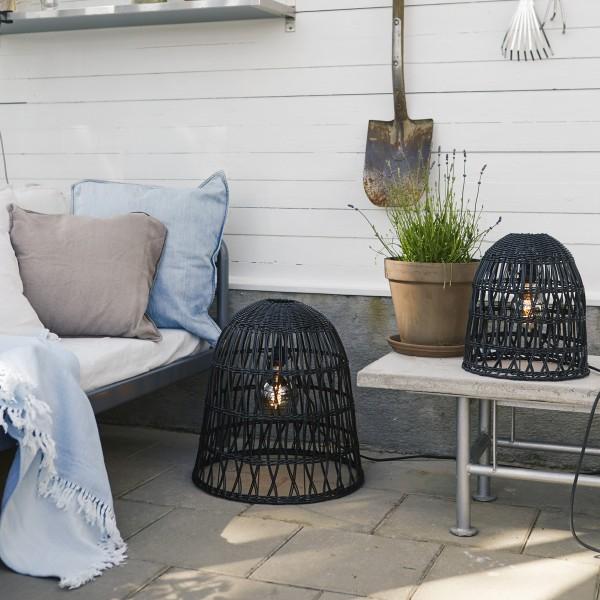 Lampenschirm KNUTE wetterfest - für E27 Fassungen - schwarz