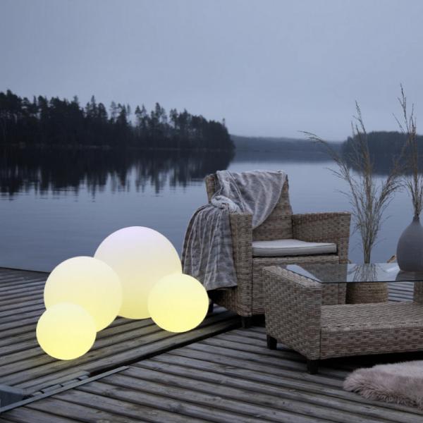 """B-Ware LED Kugel """"Twilights"""" - 40cm - RGB Farbwechsel oder feste Farbe - Fernbedienung - Aufladbar"""