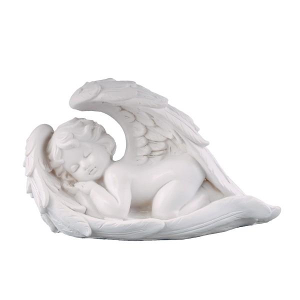 Engel schlafend - weiss - 21 x 13 x 9cm