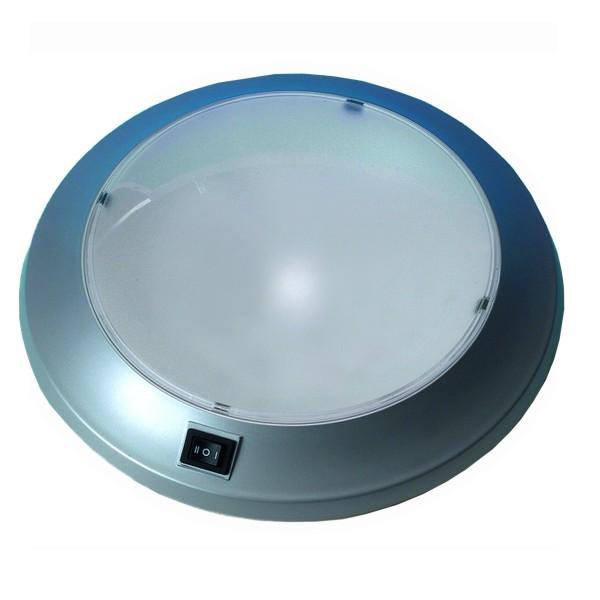 LED Deckenleuchte RIO silber - 12V - 24 LED - 25 x 5,5cm - 4,8W - 340 lm - mit Schalter - 215g