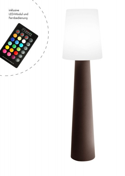 """Outdoor XL Stehlampe No. 1 """"Braun"""" H:160cm - LED Modul - Außenleuchte IP44"""