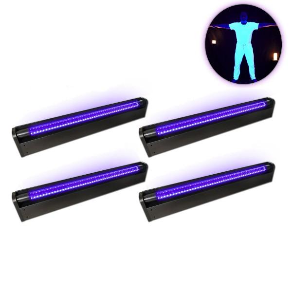 """PARTYRAUM POWERPACK """"UV ACTION"""" - 4 x UV BAR mit LED Röhre - Ideal für Räume bis 120m²"""