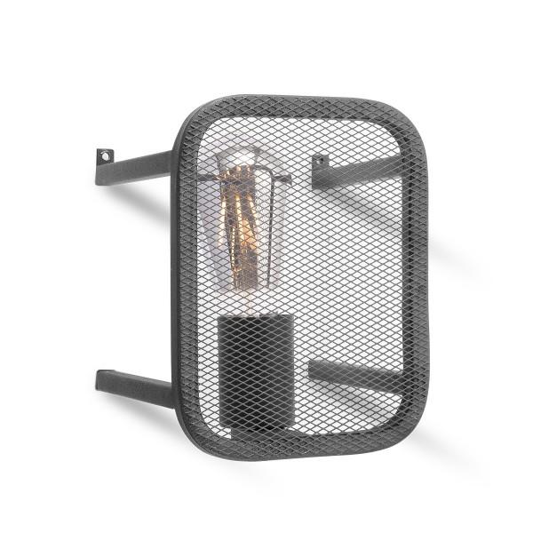 Moderne Wandlampe WEAVE schwarz - für Filament LED Leuchtmittel - 20cm x 15cm - E27