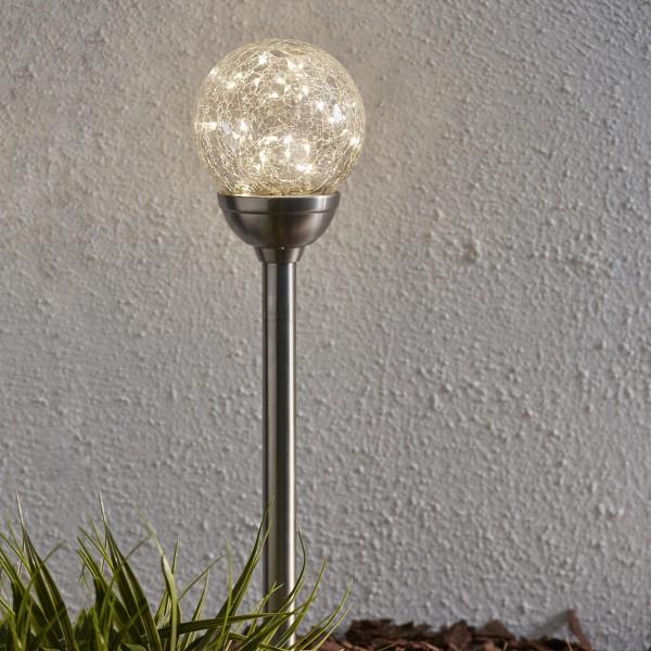 "LED Solarkugel/Gartenspieß ""Glory"" - H: 45cm - 30 warmweise LED - Dämmerungssensor"