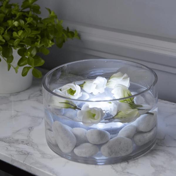 LED Wasser-Dekolicht - warmweiß - mit Fernbedienung - Unterwasserlicht