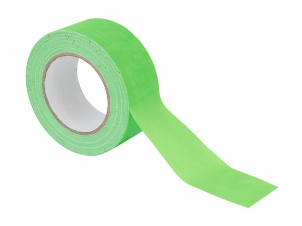 UV Gaffa Tape neongrün - 50mm x 25m - Schwarzlicht Aktives Gewebeband