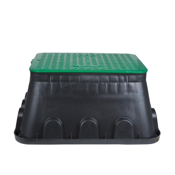 Sicherheits Bodeneinbaudose - IP44 - mit trittfestem Deckel - 640x507x300mm