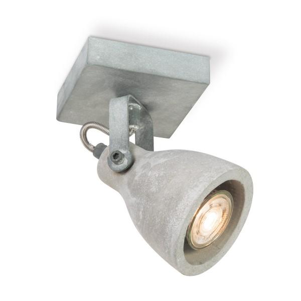 Deckenspot VEDI Einzelspot - Betonoptik grau - inkl. 1 x GU10 3000K 345lm 36°
