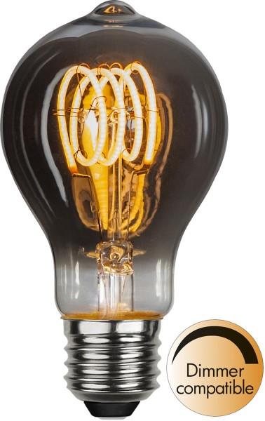 Leuchtmittel | LED | Filament | SPIRAL | E27 | Dimmbar | Kugel | D: 60mm | Smoked Glas