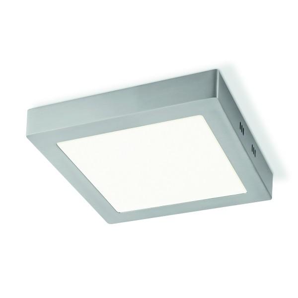 Deckenleuchte SKA silber matt 22,5x22,5cm - integrierte LED 3000K 1000 Lumen - 15W