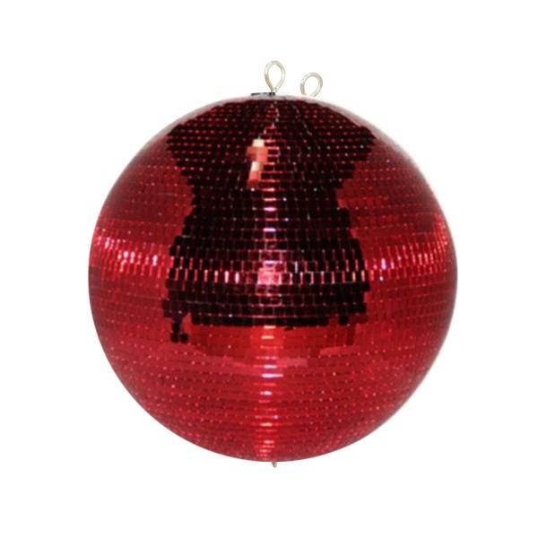 Spiegelkugel 30cm farbig rot- Diskokugel (Discokugel) Party Lichteffekt - Echtglas - mirrorball red color