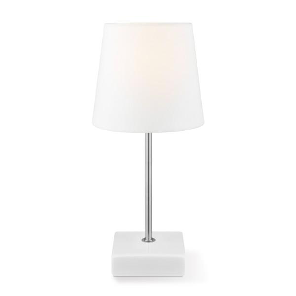 Tischleuchte ARICA - weiß - 27cm hoch - E14 Fassung - Keramiksockel