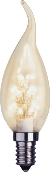 LED Kerzenlampe DECOLINE RC35 - 0,9W - E14 - ultra-warmweiss 2100K - 55lm