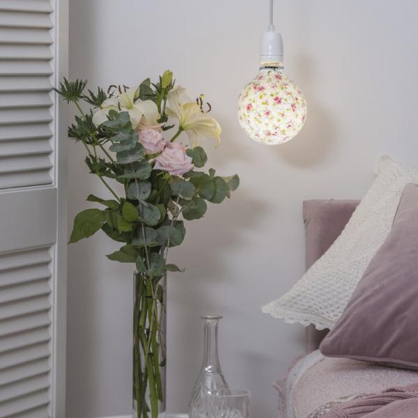 LED Leuchtmittel DEKOLED G130 MOSAIK  PINK - E27 - 4W - warmweiss 3200K - 150lm