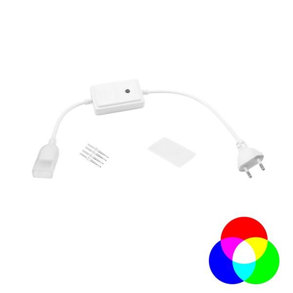 Controller Basic für LED NEON FLEX 230V Slim RGB - 8 Programme - inkl Montagekit