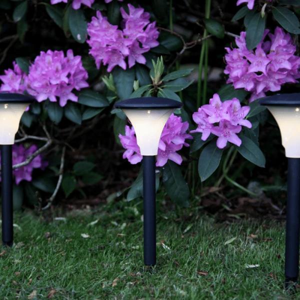 """LED Solar Wegleuchte """"Faro"""" - warmweiße LED - H: 26cm, D:11cm"""
