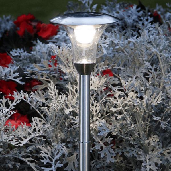 LED-Solar-Wegleuchte - A Line Outdoor - Edelstahl - →18 x ↑51cm