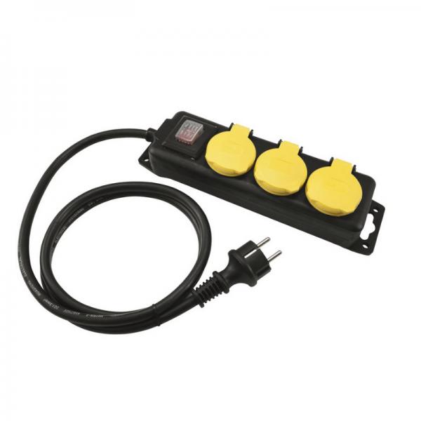 Steckdosenleiste OUTDOOR - 3-fach IP44 - 3,0m Kabel - mit Schalter