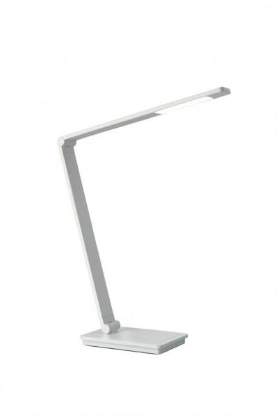Tischleuchte ECKARD - LED - 3 Lichtfarben wählbar - 560lm - Induktiv Ladung - dimmbar - weiß