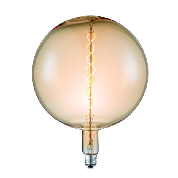 Designleuchtmittel NOVA G260 amber - LED Filament - 2200K - E27 - 220lm - dimmbar - D: 26cm