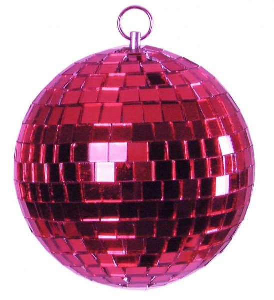 Spiegelkugel 15cm farbig pink- Diskokugel (Discokugel) zur Dekoration - Echtglas - mirrorball pink rose purple