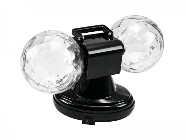 (B-Ware) LED Mini Double Ball - Farbenfroher Lichteffekt mit Doppelkugel - Plug&Shine