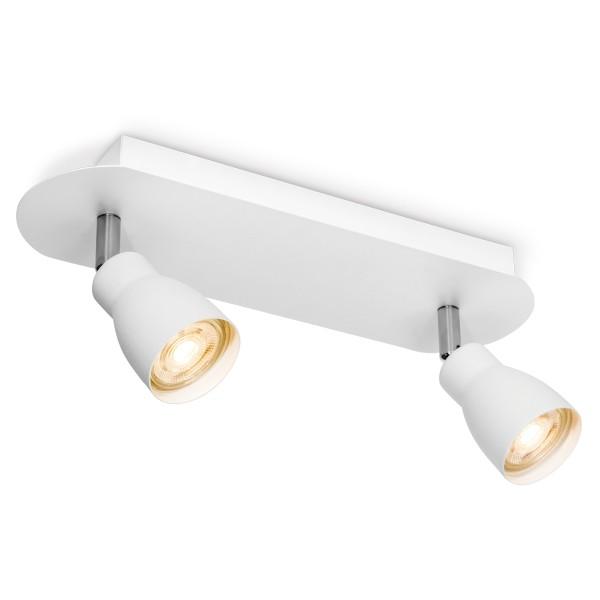 Deckenspot / Deckenbalken ALBA weiß - 2fach - inkl. GU10 LED Leuchtmittel