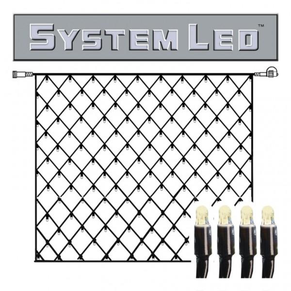System LED Black   Lichtnetz   koppelbar   exkl. Trafo   3.00m x 3.00m   192x Warmweiß