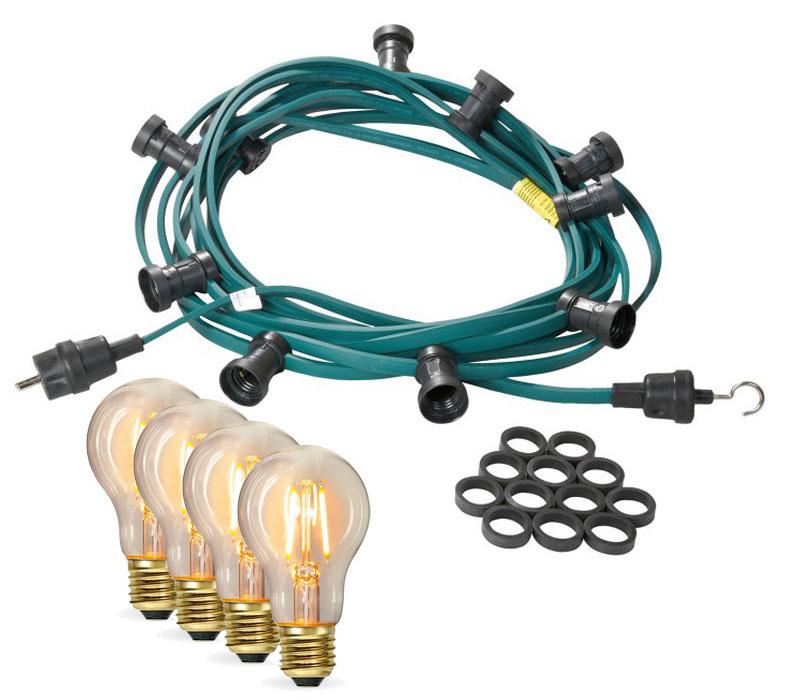 Mit Edison LED Filamentlampen