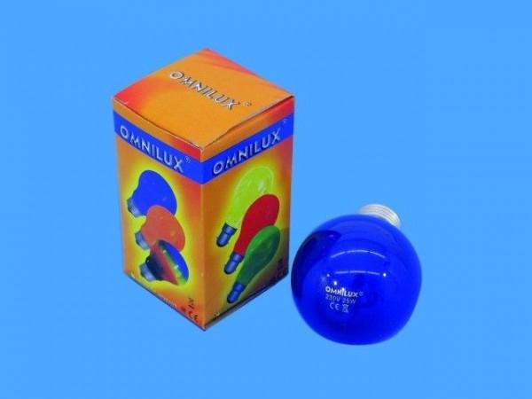 Glühlampe - Omnilux A19 - E27 - 25W - Blau