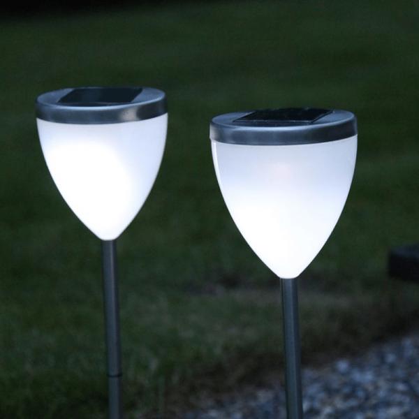 """LED Solar Wegleuchte """"Vigo"""" - kaltweiße LED - H: 34cm - Dämmerungssensor"""