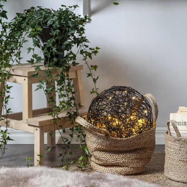 """LED 3D Designkugel """"Trassel"""" - D: 37,5cm - 100 warmweiße LED - Indoor & Outdoor - schwarz"""